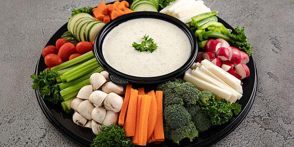 Crispy Vegetables and Dip